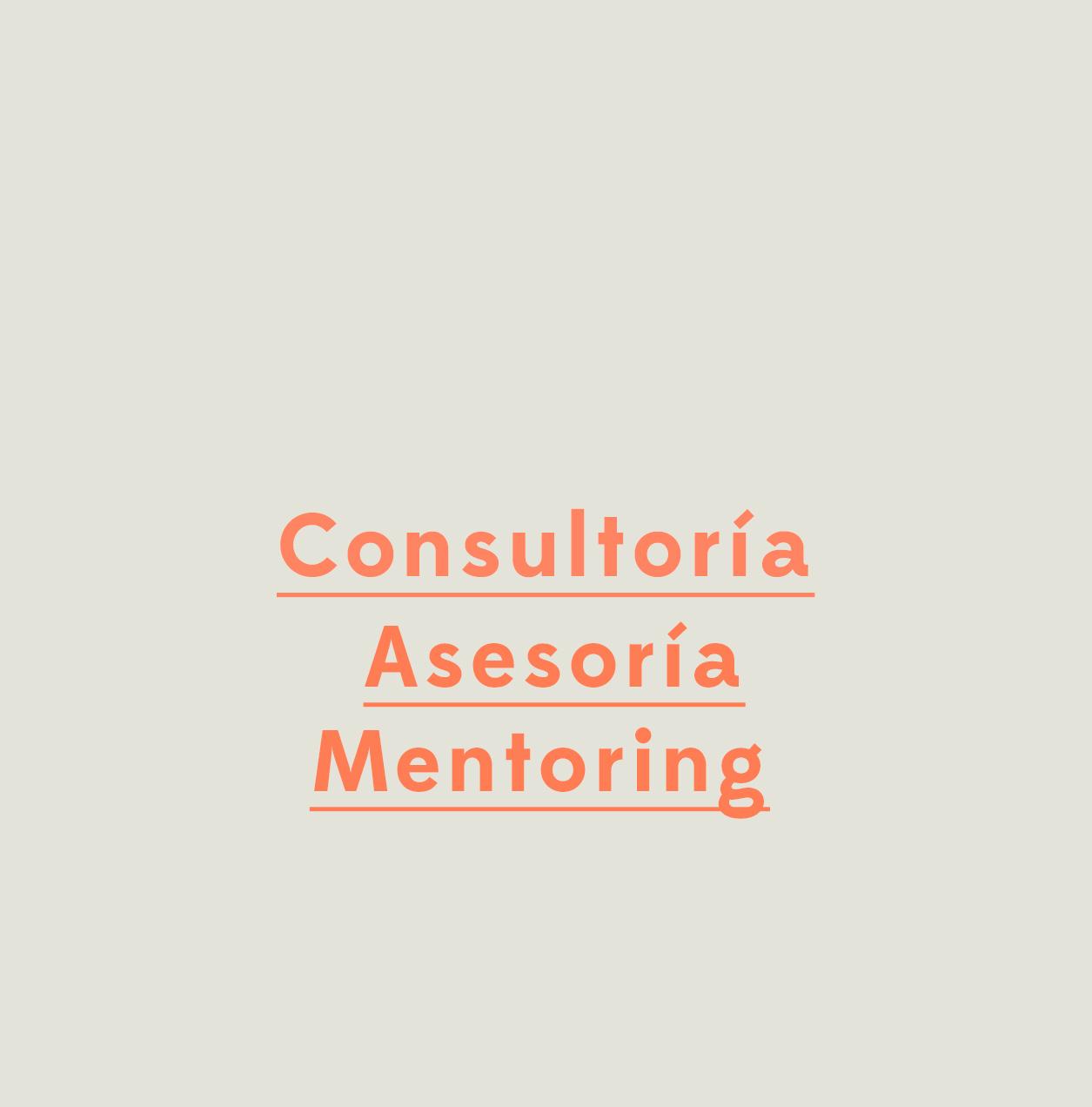 Consultoría, asesoría y mentoring