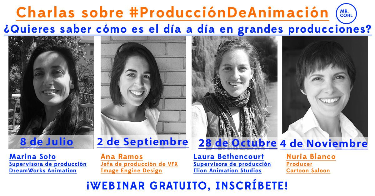 charla de producción online de animación con Nuria G. Blanco