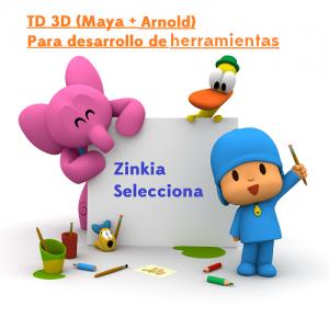 se busca TD 3D Zinkia Pocoyó