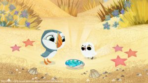 caso de estudio Puffin Rock, de Cartoon Saloon evento de Mr. Cohl